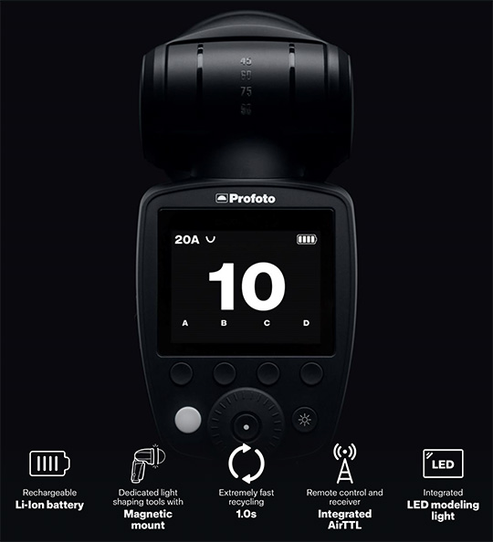 Profoto A1X for Canon, Nikon and Sony announced