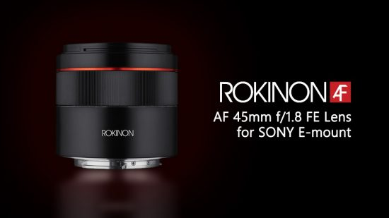 Samyang/Rokinon AF 45mm f/1.8 FE autofocus lens for Sony E-mount officially announced