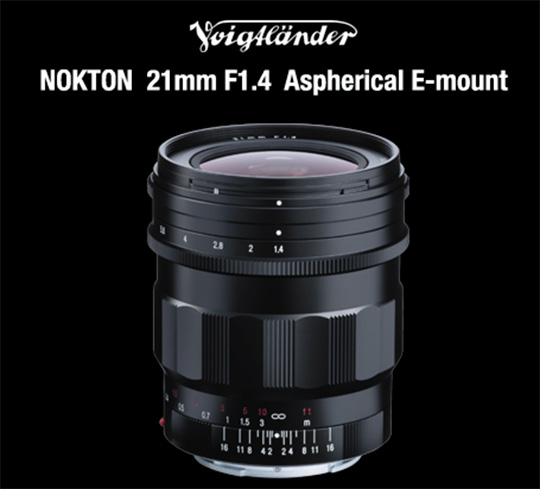 Voigtländer Nokton 21mm f/1.4 Aspherical lens for E-mount US price: $1,099
