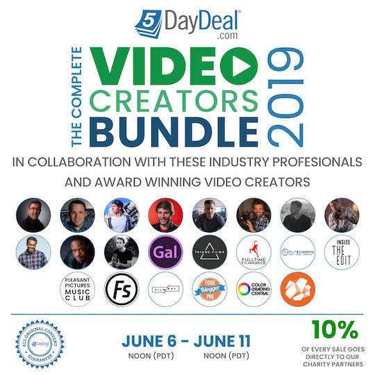 The 2019 5DayDeal Video Creators Bundle just launched