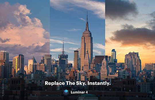 "Skylum Luminar 4 announced with ""AI Sky Replacement"""