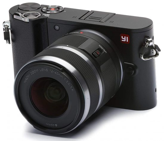 Here is a 4k 20MP mirrorless MFT interchangeable lens camera with 12-40mm lens for $150