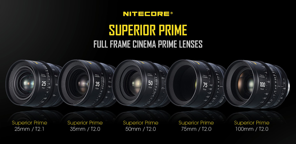 Nitecore Full Frame Prime Cinema Lenses Released Photo