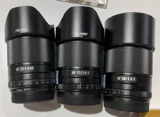 The new Viltrox mirrorless autofocus lenses will start shipping in March (Viltrox 23mm f/1.4, 33mm f/1.4 and 56mm f/1.4)