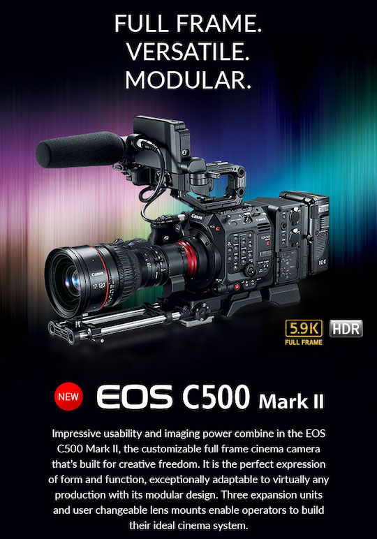 Canon Cinema EOS C500 Mark II camera officially announced