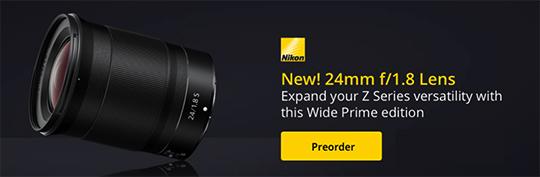 Just announced: Nikon D6, Nikkor Z 24mm f/1 8 S, Nikkor AF-S