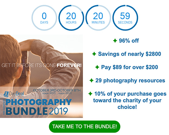 Last chance: the 2019 Complete Photography Bundle will expire in 20 hours