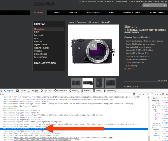 Sigma fp mirrorless camera with L-mount to be priced at $1,899?