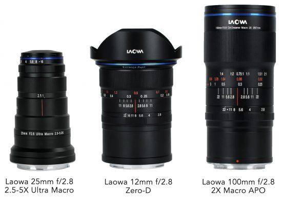 Venus Optics announced Laowa 12mm f/2.8, 25mm f/2.8 and 100mm f/2.8 lenses for Canon RF and Nikon Z mounts