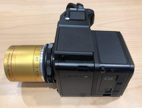 "A ""medium format Noctilux"" 100 mm f/2 lens that covers the 53x40mm IQ4 sensor"