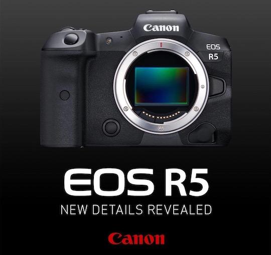 Canon EOS R5 camera specifications recap