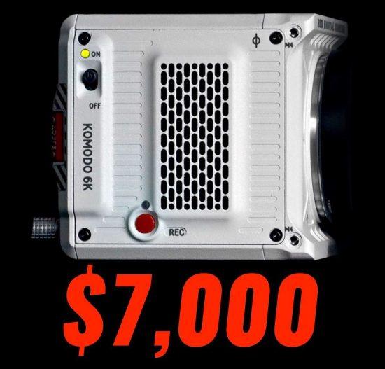 RED Komodo 6k camera price: $6,000 ($7,000 for colored)