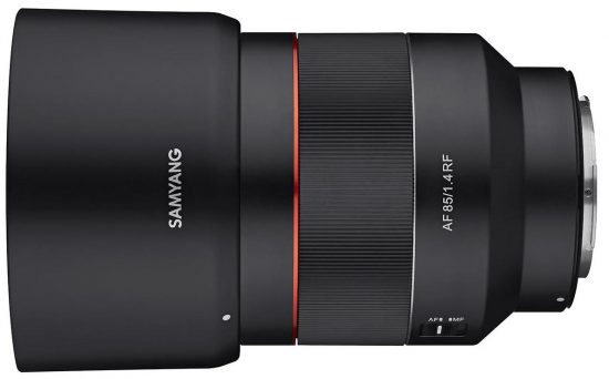 New Samyang/Rokinon 85mm f/1.4 AF lens for Canon RF announced