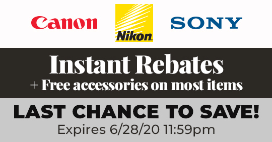 Expiring soon: Canon, Nikon, Sony instant rebates and other deals