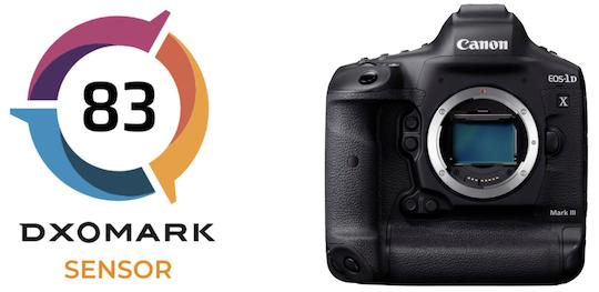 DxOMark's Canon EOS-1D X Mark III sensor score: 83