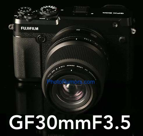 More leaked pictures of the upcoming Fujifilm Fujinon GF 30mm f/3.5 R WR lens
