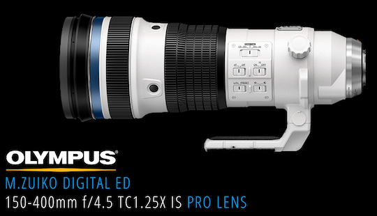 The Olympus M.Zuiko Digital ED 150-400mm f/4.5 TC1.25X IS PRO lens will be priced at $7,500