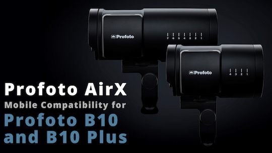 The Profoto B10 series flashes can be used with an iPhone