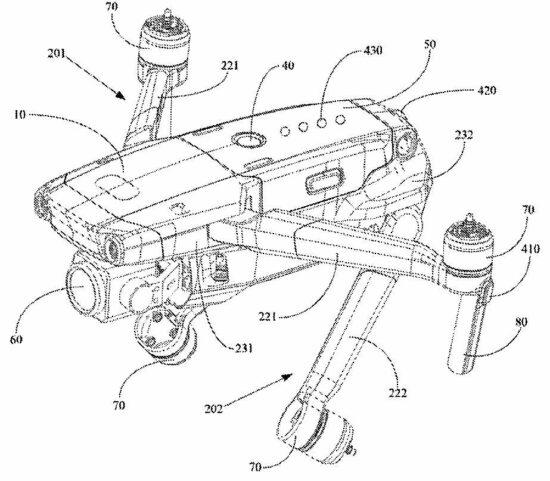DJI Mavic 3 drone patent?