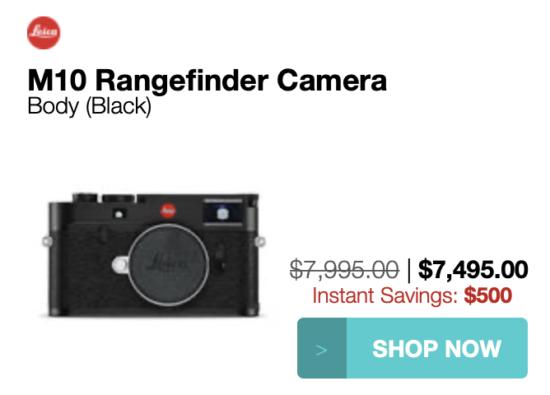 Leica M10, M10-P, M10-D, Monochrom Typ 246 cameras price drops, Leica M10, M10-D cameras discontinued