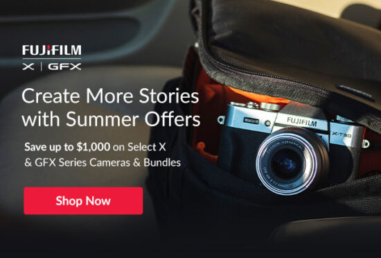 New summer savings on Fujifilm cameras and lenses in the US