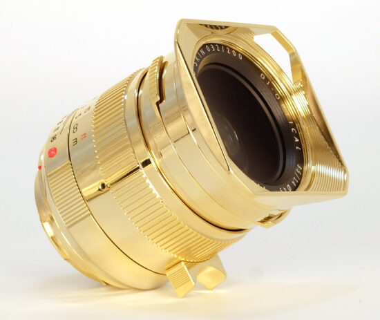 "TTartisan announced a new 35mm f/1.4 24k gold plated limited edition lens ""24K Gold Skin"" for Leica M-mount"