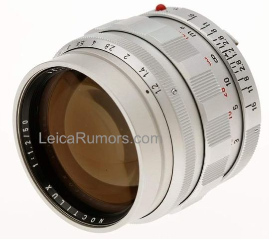 Leica is rumored to announce a new Noctilux M 50mm f/1.2 ASPH Heritage limited edition lens