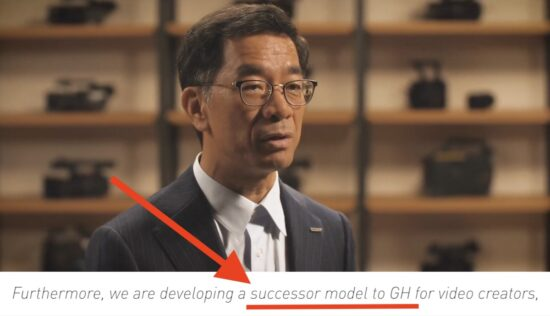 "Panasonic confirms they are ""developing a successor model to GH for video creators"""