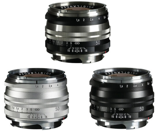 New Voigtlander Nokton Vintage Line 50mm f/1.5 Aspherical II lens for Leica M-mount announced