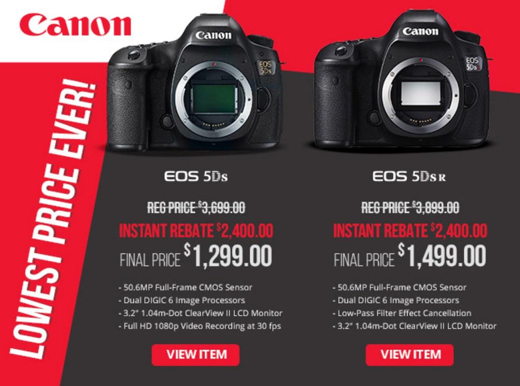 Canon Eos 5ds R Fire Sale 2 400 Off Plus Big Price Drop On Mft Cameras Photo Rumors