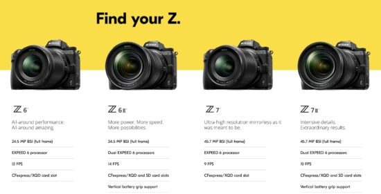 Announced: Nikon Z6 II and Z7 II mirrorless cameras