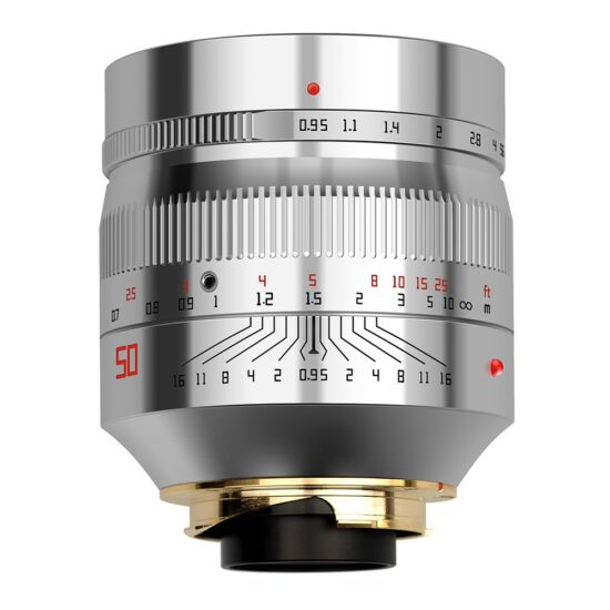 Here is the new silver TTartisan 50mm f/0.95 lens for Leica M-mount