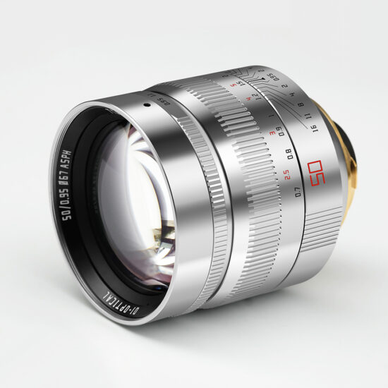 More pictures of the upcoming silver TTartisan 50mm f/0.95 lens for Leica M-mount, pre-orders to open this week