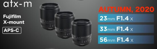 Tokina to announce two new lenses for Fujifilm X-mount (atx-m 23mm f/1.4 X and 33mm f/1.4)