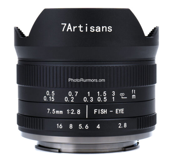 7artisans 7.5mm f/2.8 II fisheye lens for Sony E, Fuji X, MFT, Canon M, and Nikon Z mounts announced and available for pre-order