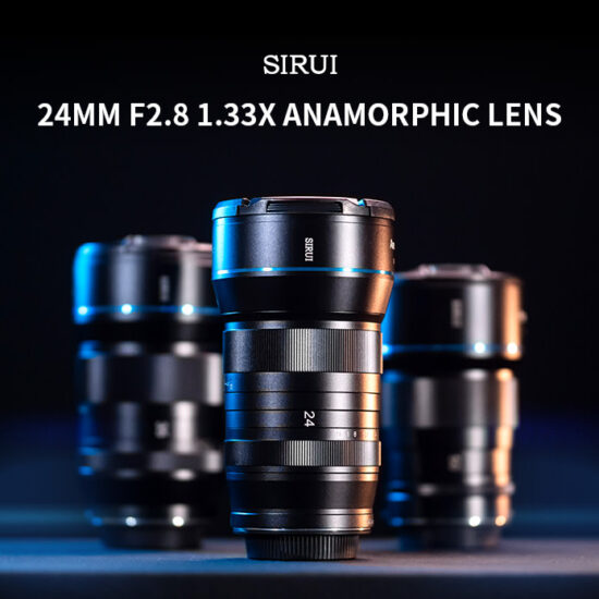 Sirui 24mm f/2.8 1.33x anamorphic APS-C lens now available on Indiegogo
