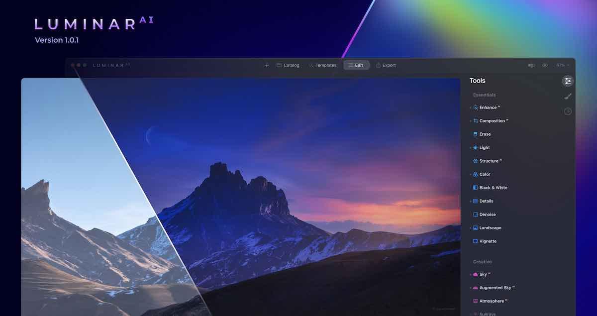 Skylum Luminar AI update version 1.0.1 released - Photo Rumors
