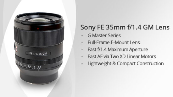 Sony FE 35mm f/1.4 GM lens (SEL35F14 GM) officially announced