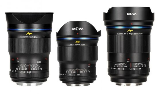 Venus Optics Laowa Argus f/0.95 lenses specifications