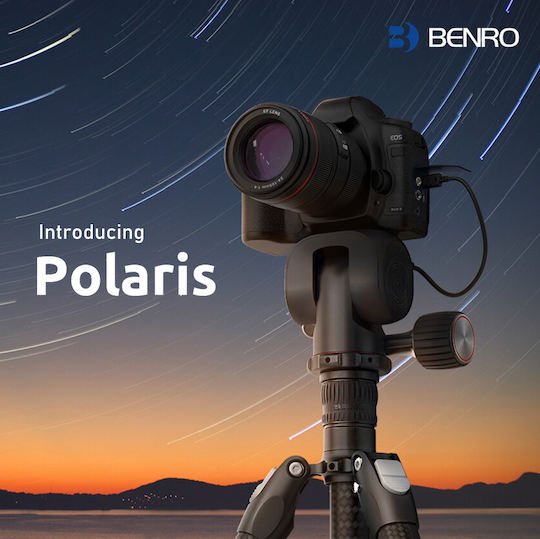 Another crazy Kickstarter: Benro Polaris smart electric tripod head with camera interface controller has raised almost $2 million