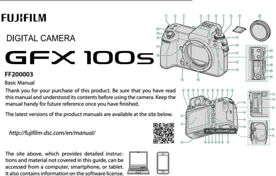 You can now download the Fujifilm GFX100S camera manual