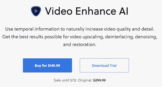 Topaz Labs Video Enhance AI v2.0.0 released (now half price)