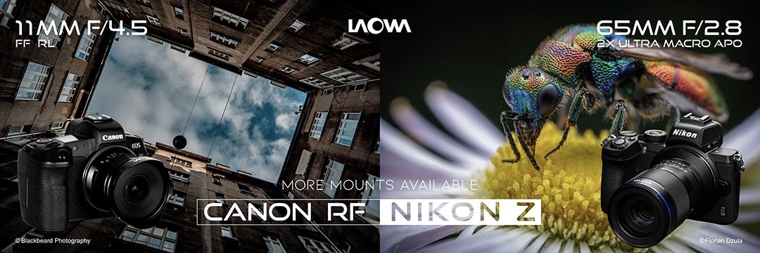 Venus Optics announces Laowa 11mm f/4.5 FF RL for Canon RF mount and Laowa 65mm f/2.8 2x Ultra-Macro APOfor Nikon Z mount