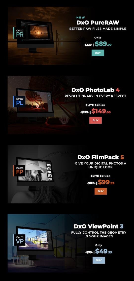 Deal of the day: 30% off on all DxO products (except Nik Collection)