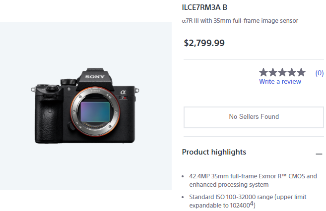 The new Sony a7R IIIA and a7R IVA cameras: pre-orders open on May 17, shipping starts on June 4th