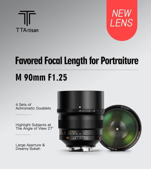 The new TTartisan 90mm f/1.25 lens for Leica M-mount is now available for pre-order