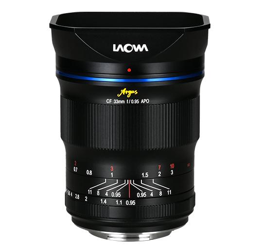 Venus Optics announced the first lens of the f/0.95 Argus line: Laowa Argus 33mm f/0.95 CF APO APS-C lens (Fuji X, Sony E, Nikon Z, Canon R)