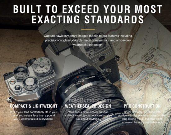 Olympus M.ZUIKO DIGITAL ED 8-25mm f/4 PRO lens additional information