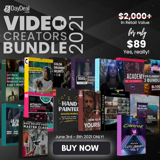 The 2021 5DayDeal video collection bundle sale is ending today