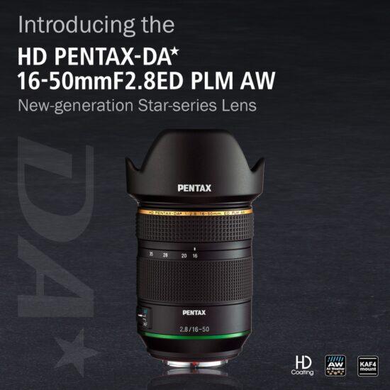 Ricoh announced HD PENTAX-DA★ 16-50mm f/2.8 ED PLM AW lens for Pentax k-mount